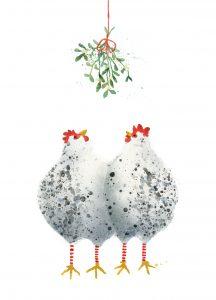 Kippen onder de mistletoe